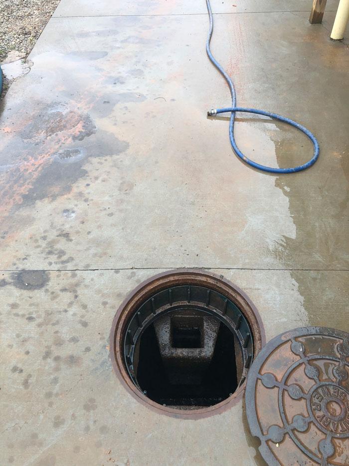 How do you repair a concrete septic tank