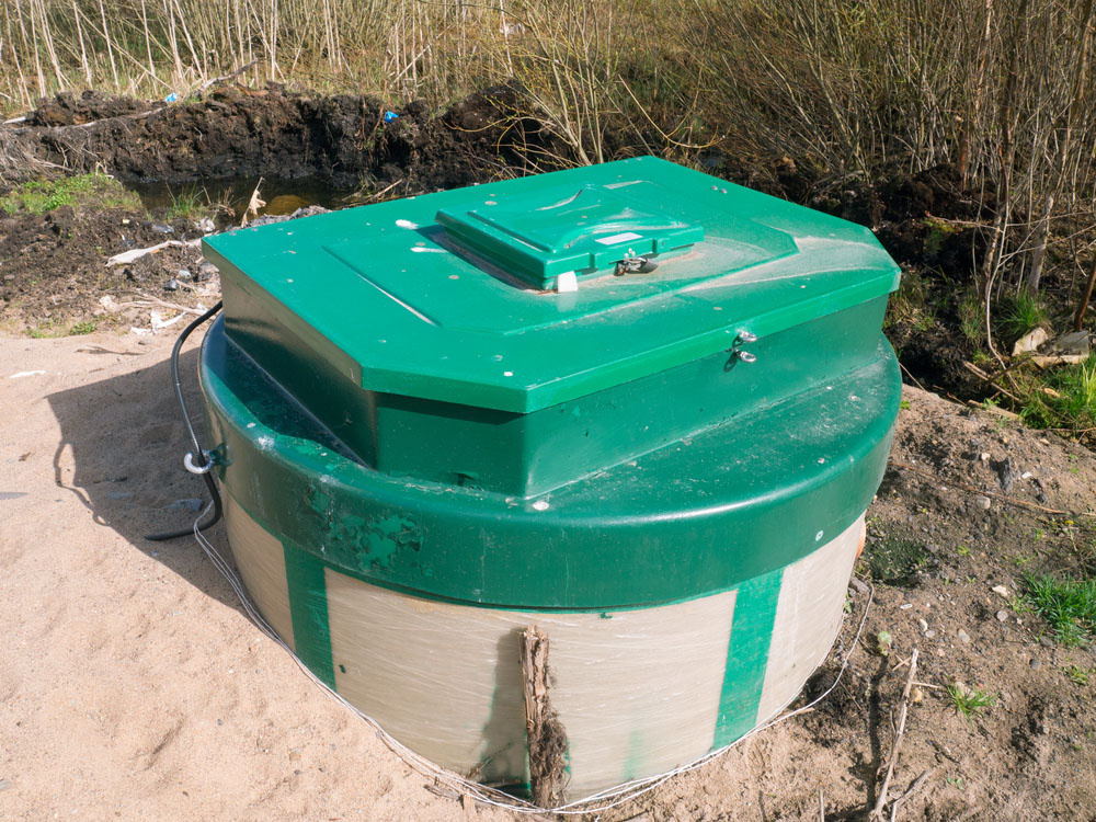 Scheduled septic maintenance