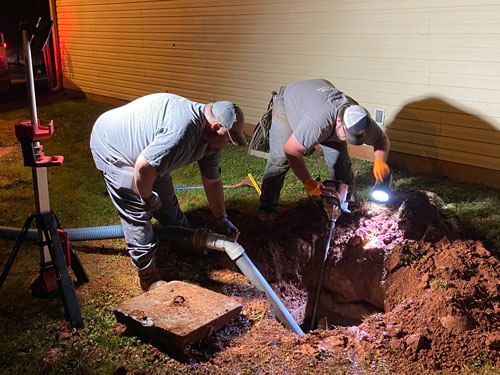 Septic system pumping process